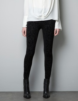 Flocked Leggings