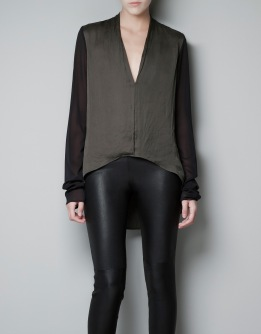 Asymmetrical Silk Blouse